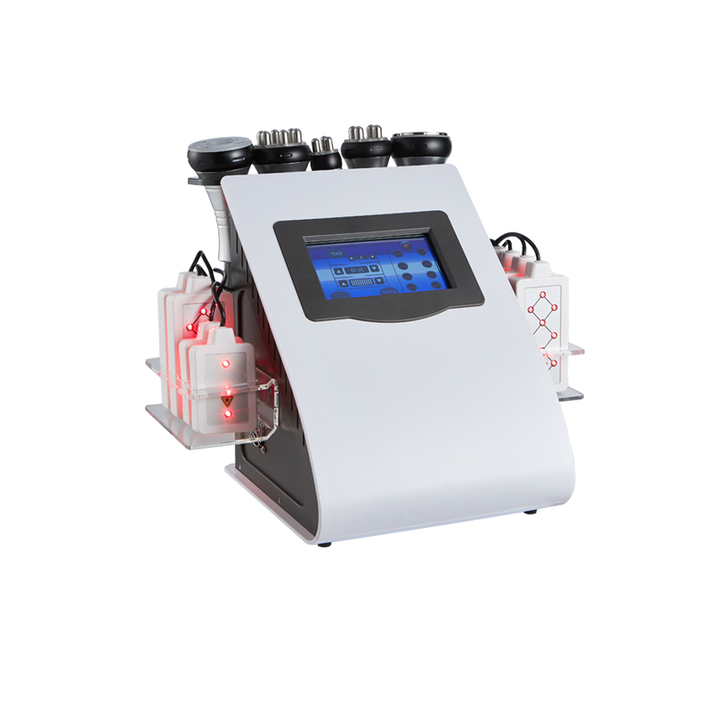 Vacuum cavitation system RF lipo laser skin tighten weight loss machine
