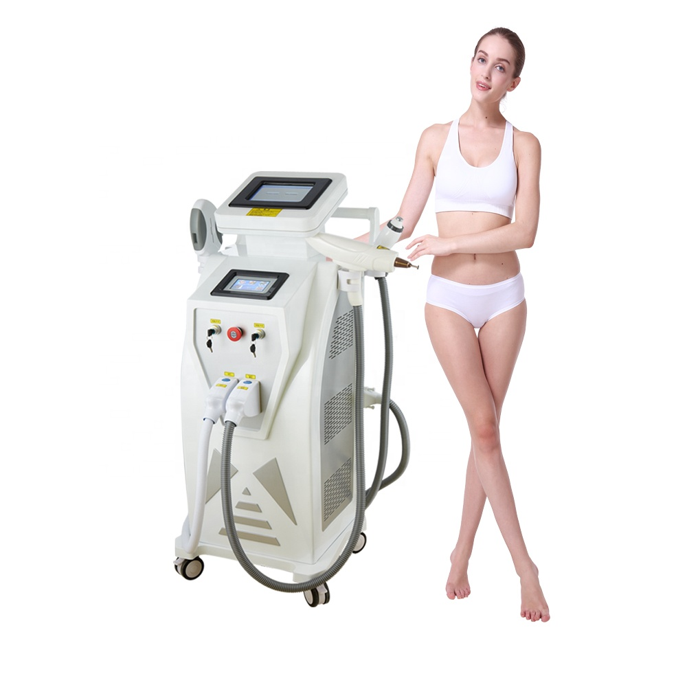 3in 1 hair removal tattoo removal RF skin tightening machine 2019