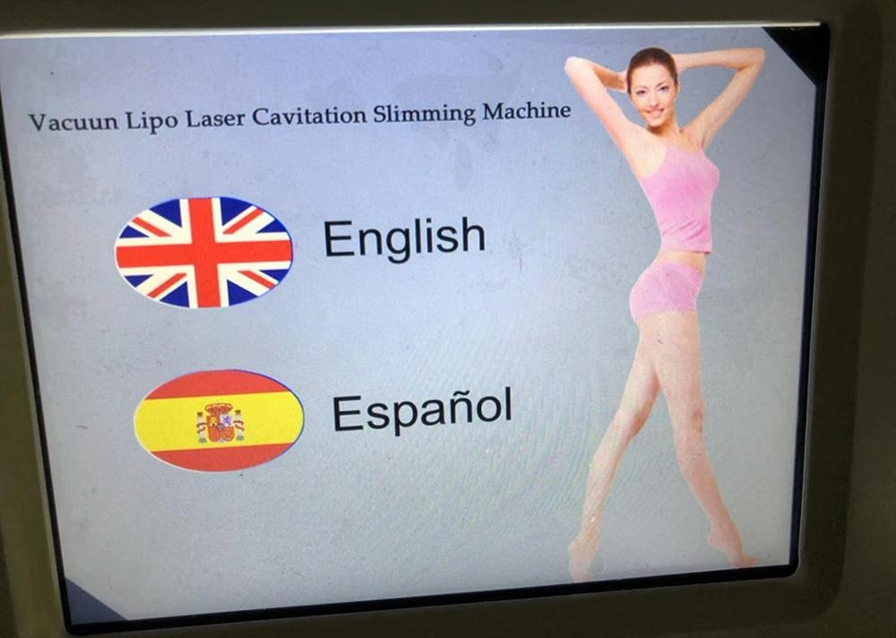 Factory price fat removal machine with vacuum cavitation system rf and lipolaser