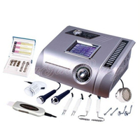 Ultrasonic face lift skin scrubber cold hammer 6 in 1 microdermabrasion machine