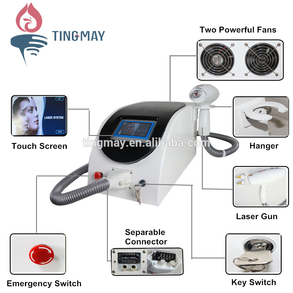 Newest promotion Portable tattoo removal machine / nd yag laser / Q Switch ND YAG