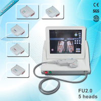 professional portable HIFU High Intensity Focused Ultrasound HIFU with 3 tips for wrinkle removal and face lift