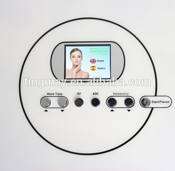 Portable rf cavitation slimming and wrinkle removal machine