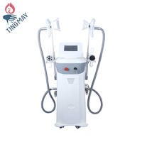 New Two Cryo handle vertical criolipolise cavitation rf slimming device