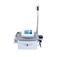 Portable multifunctional Body sculpting beauty equipment combine cryolipolysis vacuum cavitation rf and lipo laser