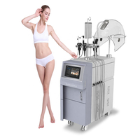 Multifunction ultrasonic rf face lift oxygen water spray facial beauty machine