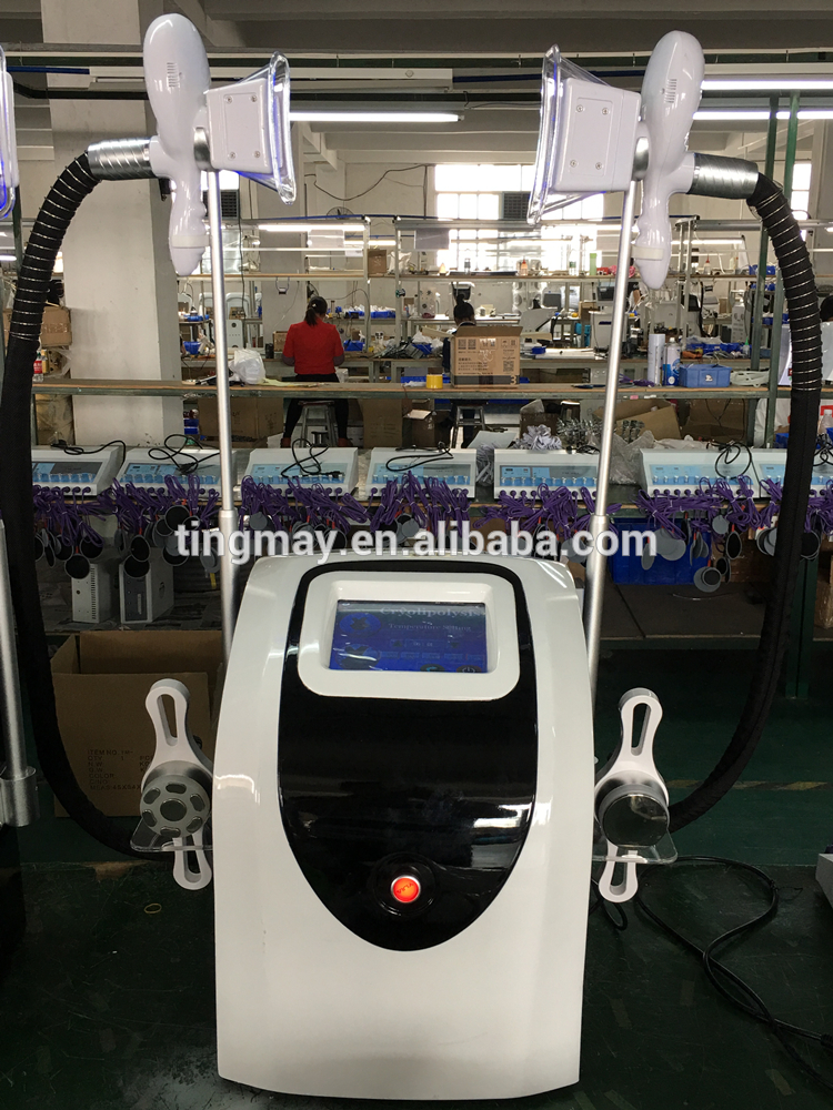 Cryolipolysis machine with cavitation rf vacuum/fat freezing machine