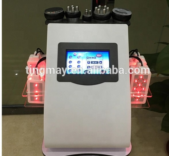 2019 trend product 6 in 1 lipolaser cavitation rf vacuum slimming machine