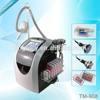 Portable 4 in 1 Cryolipolysis +40K Cavitation+RF +8 Lipo Laser Body Slimming Machine