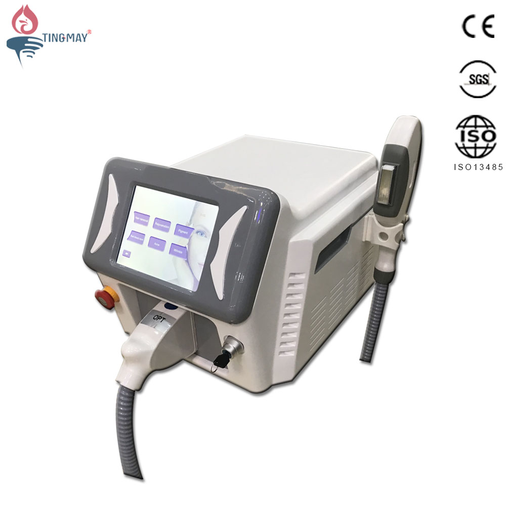 New arrival professional laser hair removal acne treatment freckle removal machine opt shr ipl with 3 filters 480nm 530nm 640nm