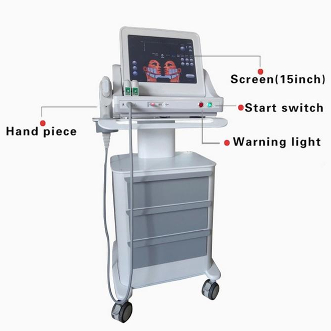 Vertical salon hifu machine / high intensity focused ultrasound hifu for wrinkle removal / hifu face lift